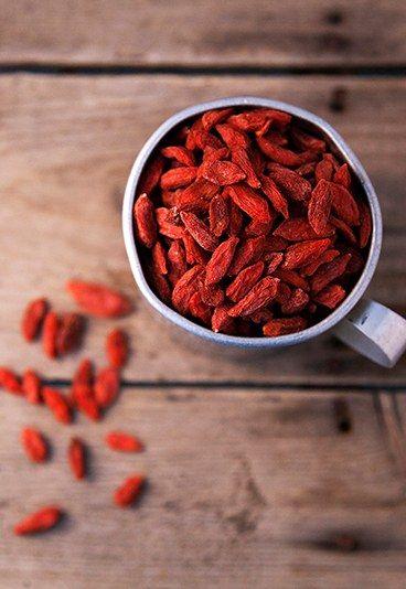 Os 10 melhores alimentos para turbinar o cérebro: goji berry