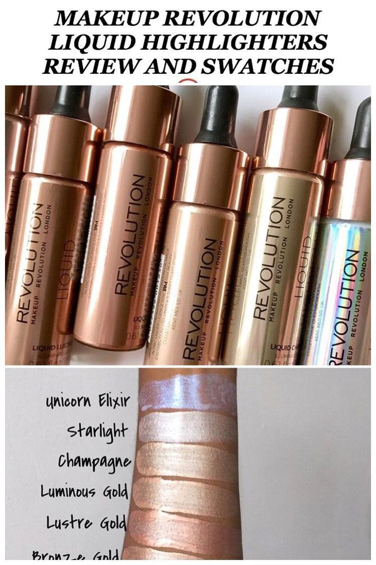 Makeup Revolution Liquid Highlighters review and Swatches