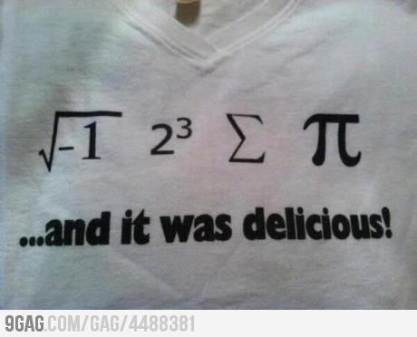 for those who dont speak math: I ate some pie