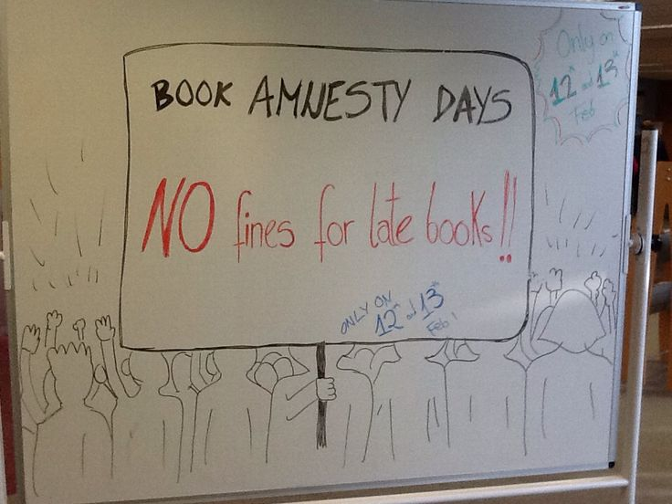 Book Amnesty days