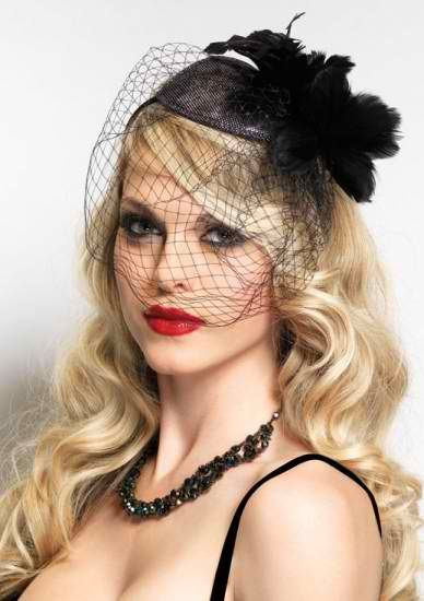 Glamour Hair Down With A Fascinator
