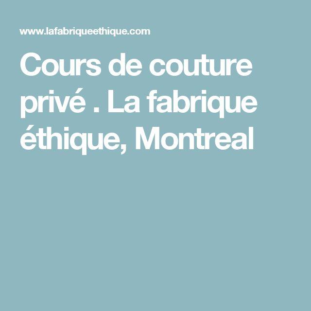 Cours de couture privé . La fabrique éthique, Montreal