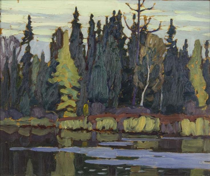 Lawren Harris - Algoma River Algoma Sketches CXL 10.5 x 13 Oil on panel
