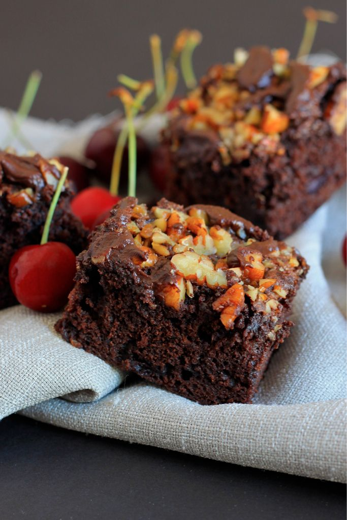 Dark Chocolate and Cherry Brownies - Makes 16