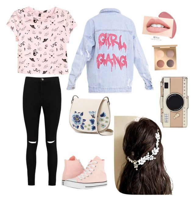 """Ready for the city😍❤️😏"" by briana-maria-simon on Polyvore featuring H&M, Boohoo, Converse, French Connection and Kate Spade"