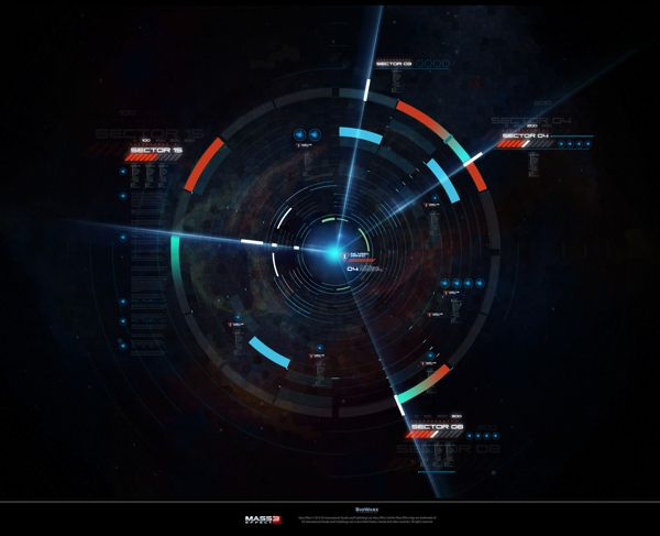 MASS EFFECT - OMEGA DLC GUI  Animation, Computer Animation, User Interface Design