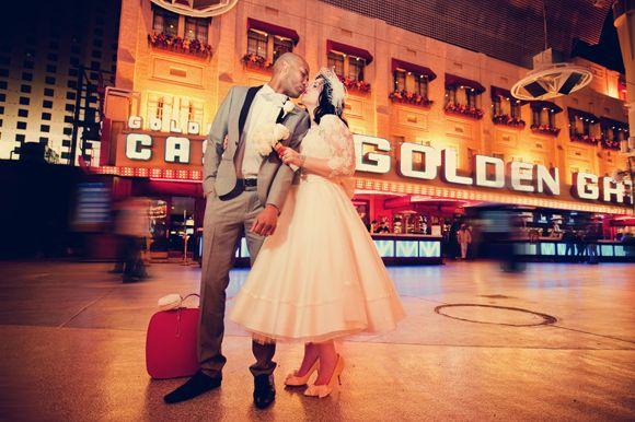 1950's Inspired Vintage Wedding in Las Vegas