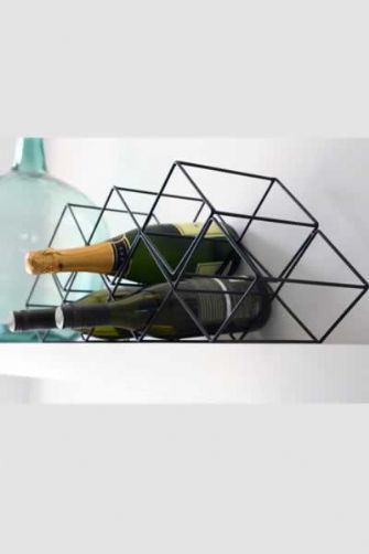 I totally own it now. Black Modern Wine Rack, Rockett St George.