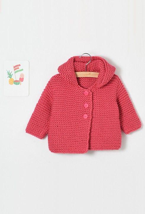 Modèle Layette - Paletot rose - Modèles gratuits • Pingouin ... bc4609d7a9d
