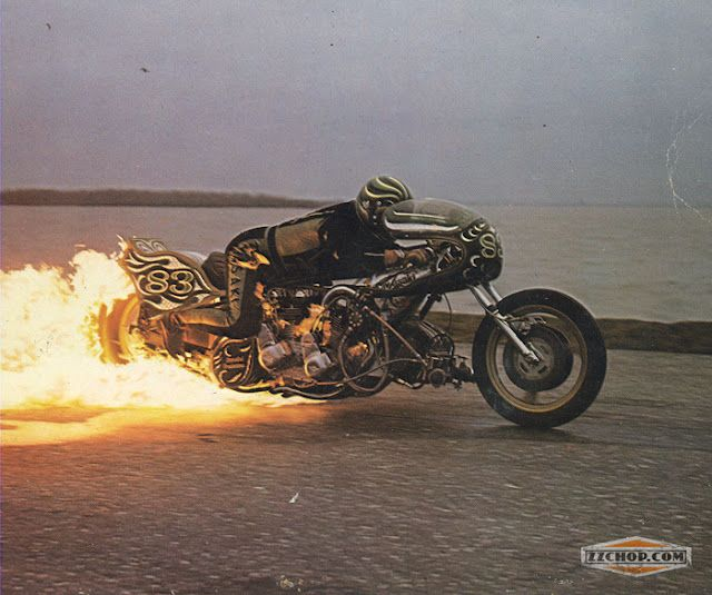 Drag bike.  You just wouldn't want to be on the back of that, going to get a little warm!