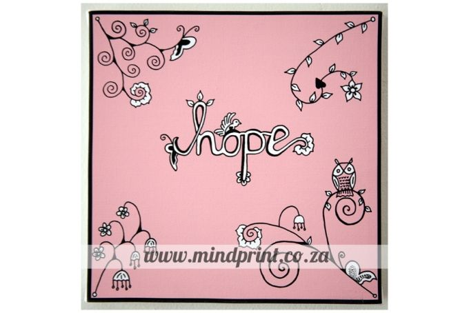 Canvas Print 20cm x 20cm - Hope by MindPrint Designs