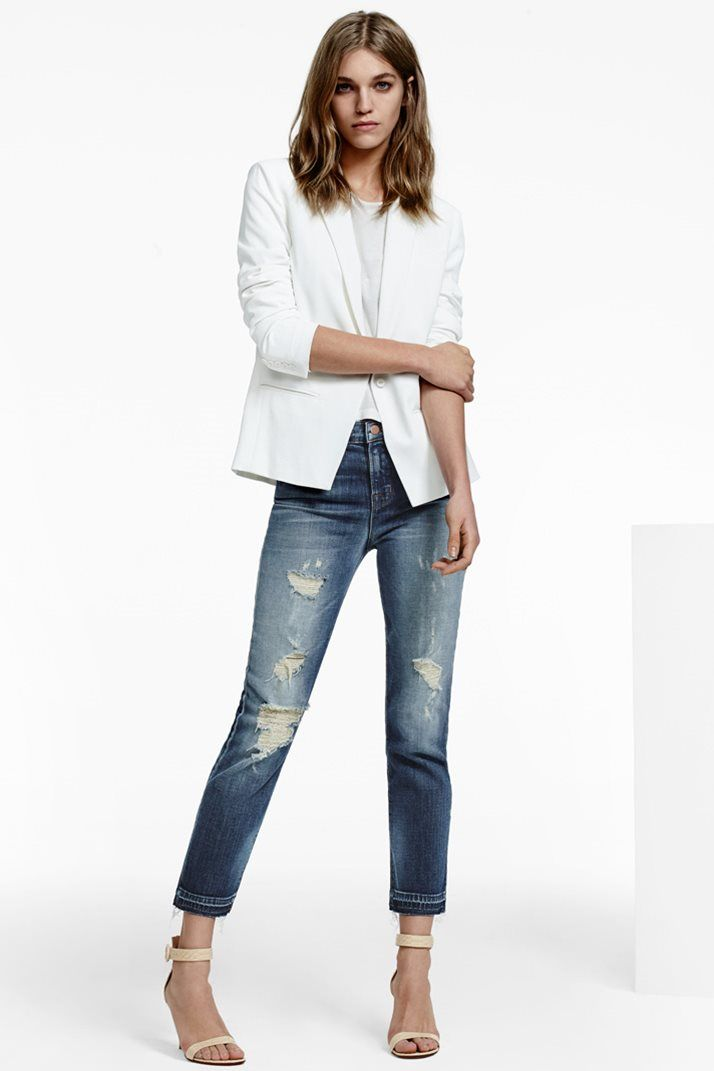 J BRAND 23135 Maria Straight Crop in Blitz.