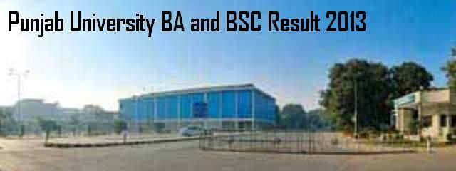 Punjab University BA and BSC Result 2013