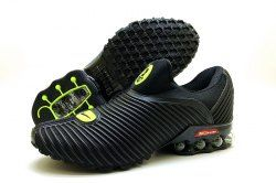 big sale 080c1 9b9fb Nike Air Shox Flyknit Charcoal Gray Black Shox R4 Men s Athletic Running  Shoes - ShoesClan.com