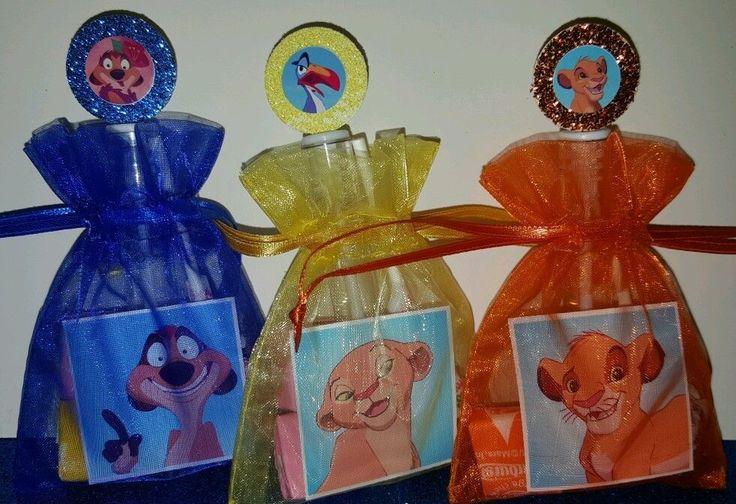 12 Lion King Birthday Party Favor Bags Stickers Bubbles Goody Simba Nala  #Disney
