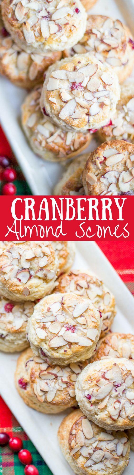 Cranberry Almond Scones - lightly sweet with a big almond flavor | www.savingdessert...