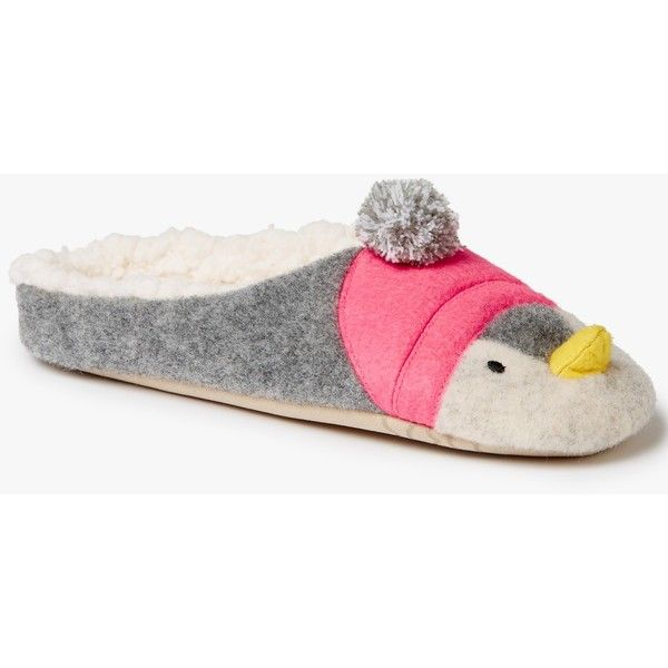 John Lewis Penguin Mule Slippers (490 MXN) ❤ liked on Polyvore featuring shoes and slippers