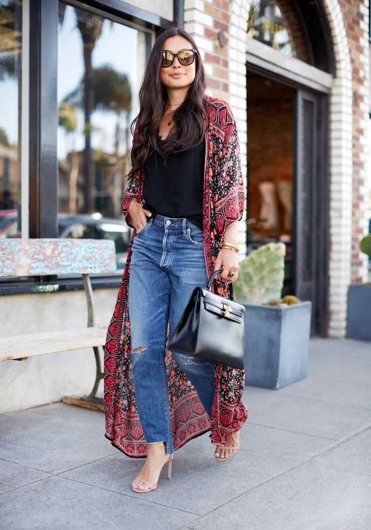 Best 25+ Kimono And Jeans Ideas On Pinterest
