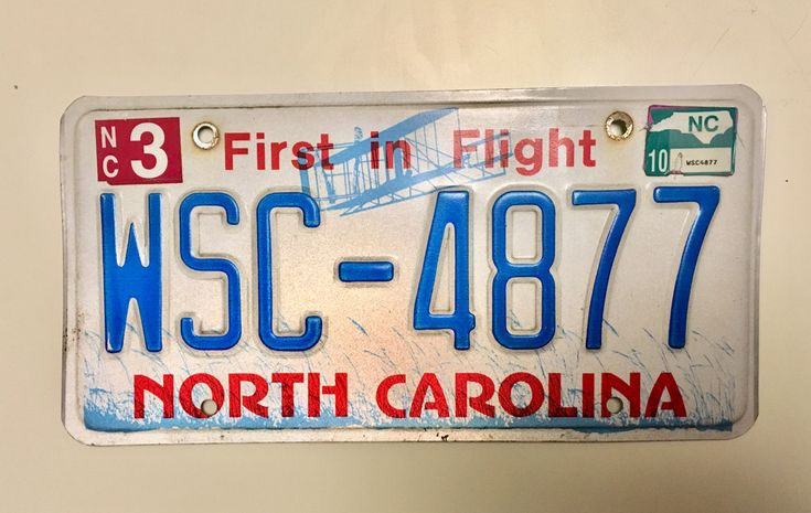 North Carolina First in Flight Expired License Plate 2010 Collectible
