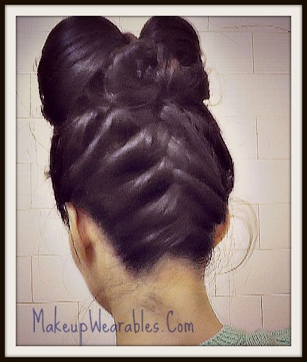 Upside down French braided, hair bow hairstyle tutorial video on yourself.  Updos & easy hairstyles for medium long hair