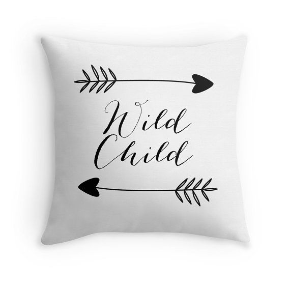 Hey, I found this really awesome Etsy listing at https://www.etsy.com/listing/220256870/wild-child-pillow-cover-white-arrows