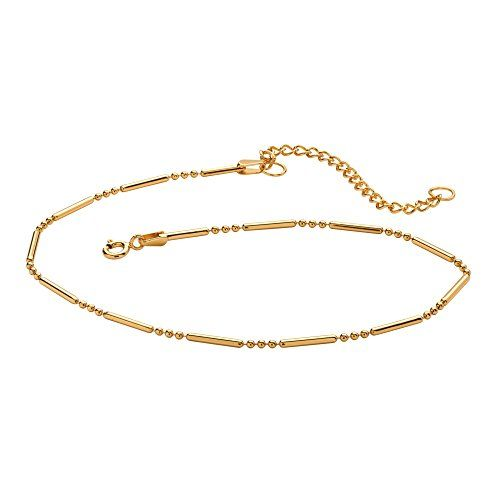 18k Gold over .925 Sterling Silver Bar and Bead Ankle Bracelet Adjustable 9-11.More info for anklet online purchase;payal anklet;silver anklets online purchase;foot anklets;indian anklets could be found at the image url.(This is an Amazon affiliate link and I receive a commission for the sales)