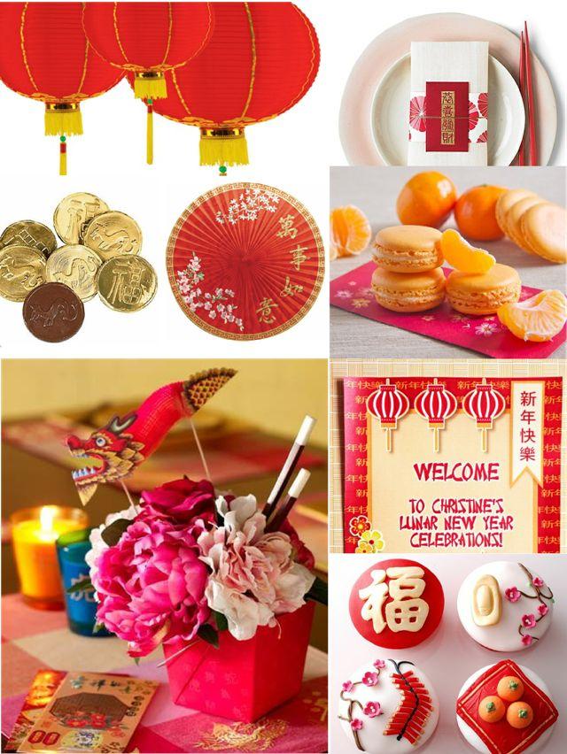 Idées Party pour Le Nouvel An Chinois avec des idées de décorations DIY, printables, gourmandises et sweet table en fête!