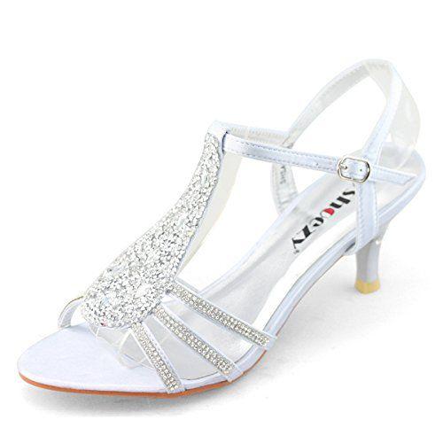 SHOEZY New Women Ladies Low Heels Wedding Prom Shoes Diamant Strappy Sandals Silver Size US 9.5 Shoezy http://www.amazon.com/dp/B00NKXHPMK/ref=cm_sw_r_pi_dp_3Zp5ub00JRZT5