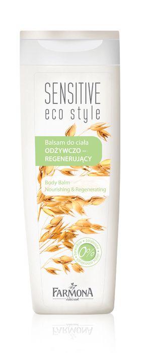 BODY BALM nourishing & regenerating   Balsam odżywczo-regenerujący opracowano do codziennej pielęgnacji każdego rodzaju skóry,  szczególnie przesuszonej i podrażnionej ♥ http://farmona.pl/produkty/pielegnacja-ciala/sensitive-eco-style/balsam-do-ciala-odzywczo-regenerujacy/