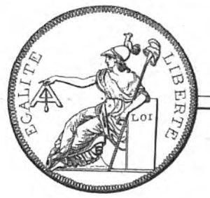 Minerva holding a level, 1793