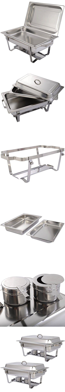 Giantex 2 Pack of 8 Quart Stainless Steel Rectangular Chafing Dish Full Size