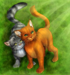 Fireheart and Graystripe. They were such good friends. They still are