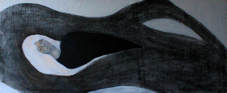 Gushtyuk Julia acrylic on canvas Melancholy