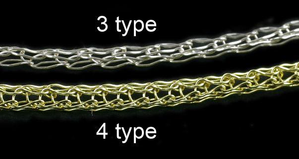 """Metal Crochet wire / 50cm Wire knitting ini terbuat dari copper wire. Untuk bagian ujungnya anda bisa mengaitkan """"jump ring"""". Atau...karena ini adalah wire knitting maka anda bisa juga mengurai ujungnya sehingga didapatkan beberapa cm yang terurai sehingga bisa dikaitkan / digabung dengan benda lain #id5193"""