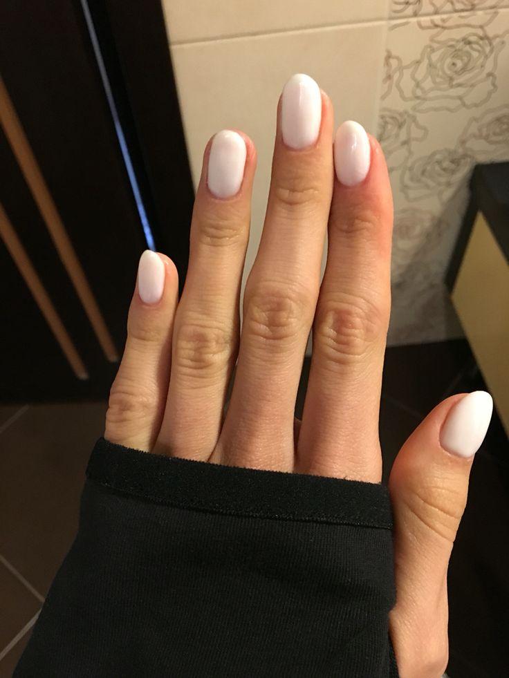 Opi funny bunny white oval nails