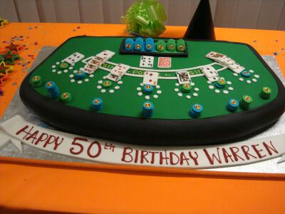 Blackjack Table Birthday Cake