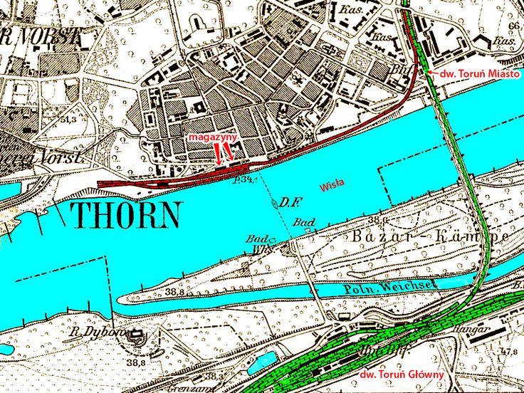 Znalezione obrazy dla zapytania kolejowa mapa torunia