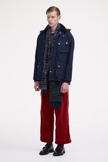Sacai, Men A/W 2013 - love this Denim English jacket