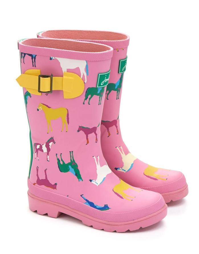 Joules Tall Kids Pink Horse Wellies $49.99