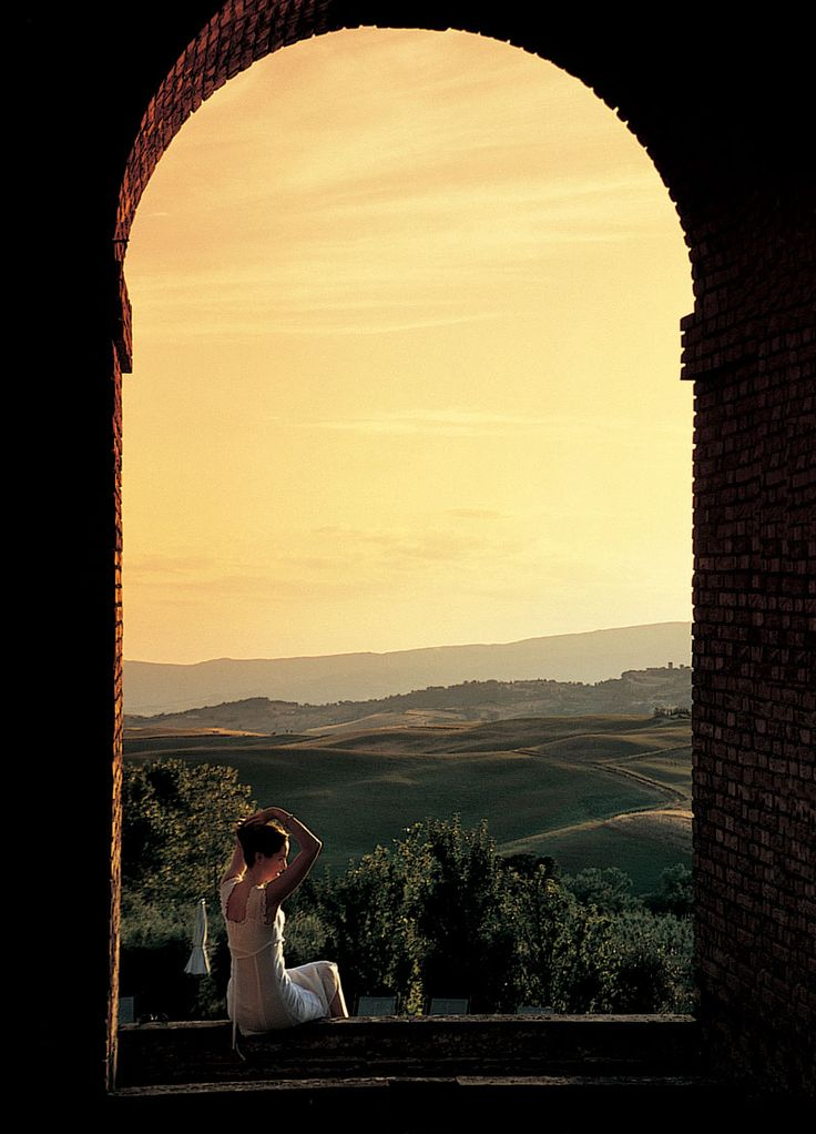 San Casciano dei Bagni, Tuscany, Italy: Located amidst the splendid scenery of the Val d'Orcia in Tuscany, half-way between Florence and Rome