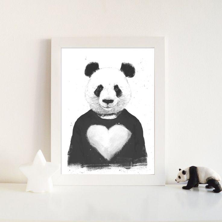 Enmarcado Lovely Panda de Balazs Solti (Hungría)