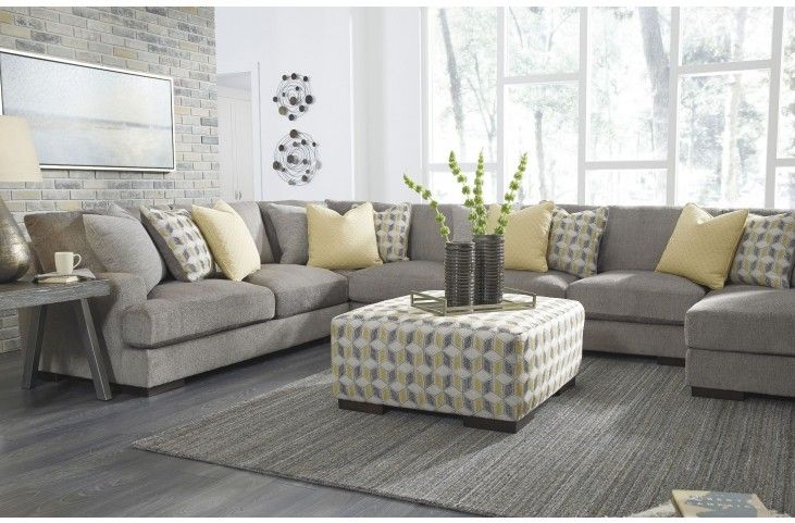 Fallsworth Smoke Raf Large Sectional From Ashley Coleman Furniture Large Sectional Sofa Luxury Furniture Living Room Sectional Sofa