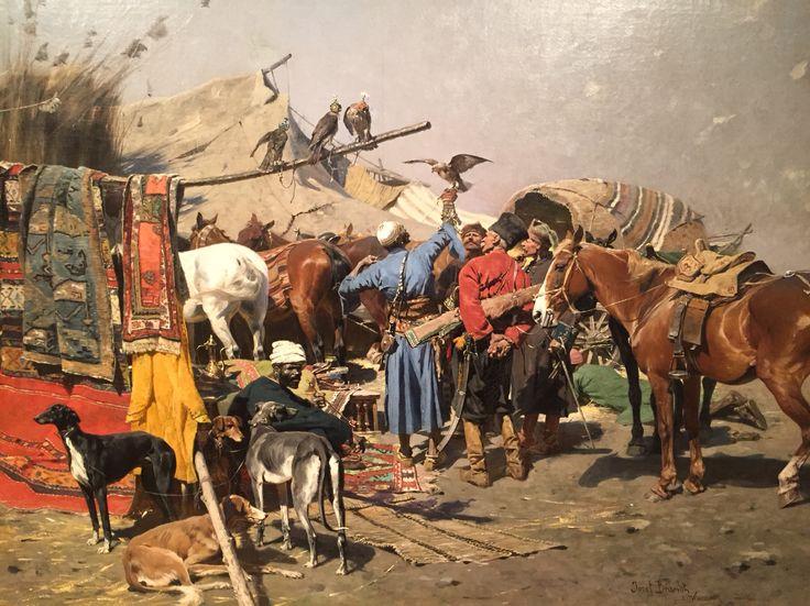Jozef Brandt, Falcons' Market, 1886