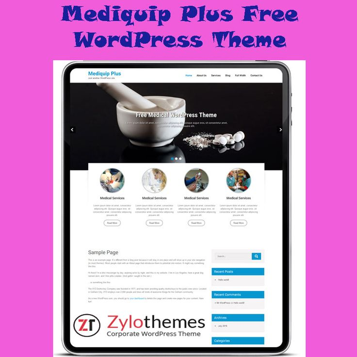 Mediquip Free Medical WordPress theme appropriate for impressive, responsive, multi-purpose Business WordPress theme is best suited for doctors, dentists, hospitals, health clinics, surgeons and any style of health and medical connected websites and blogs. http://zylothemes.com/the…/top-free-medical-wordpress-theme/