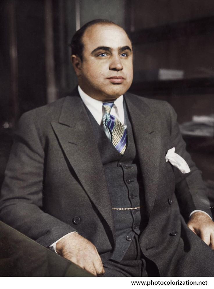 Al Capone at the Chicago detective Bureau. 1930