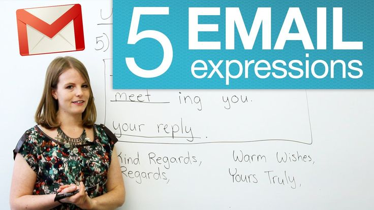 5 useful email expressions #ESL