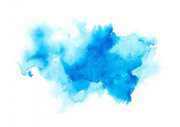 Aquarela De Cor Azul In 2020 Watercolor Images Watercolor