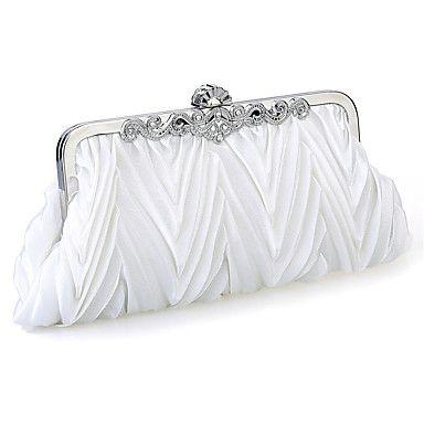 Femme Satin Mousseline de Soie Métallique Formel Soirée / Fête Mariage Sac de soirée Blanc Violet Marron Rouge Argent Noir de 4981452 2017 à $9.89