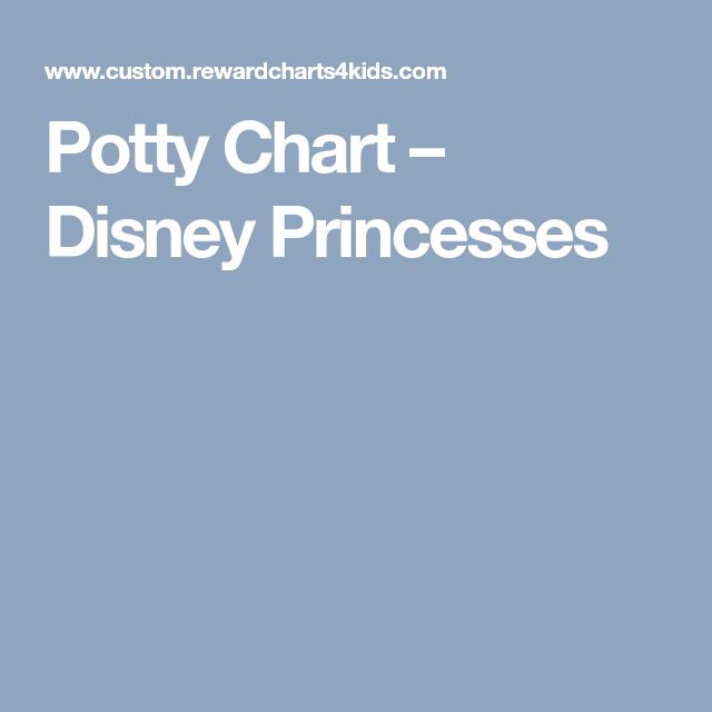 Potty Chart – Disney Princesses