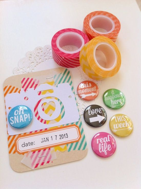 project life organization   Scrapbooking: Project life ideas and organization / Set of 6 Phrases ...